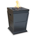 Uniflame LP Gas Ceramic Tile Fire Pit Table