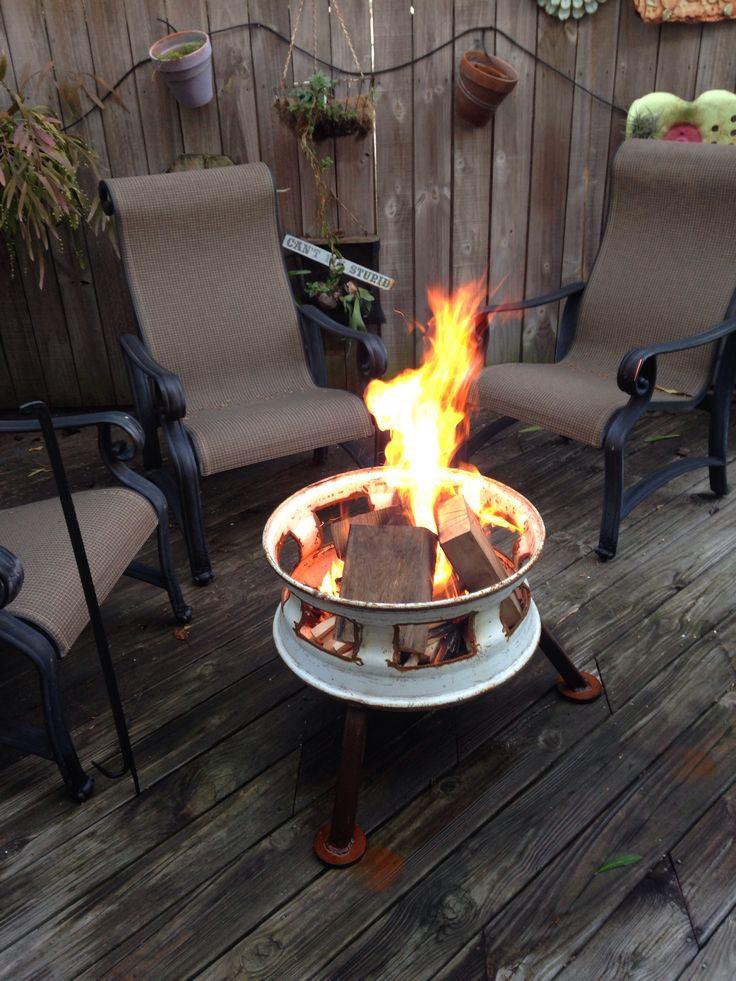 Wheel Rim Fire Pit
