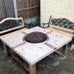 Wood Burning Fire Pit Table and Chairs