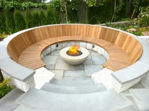 Wooden Barrel Fire Pit