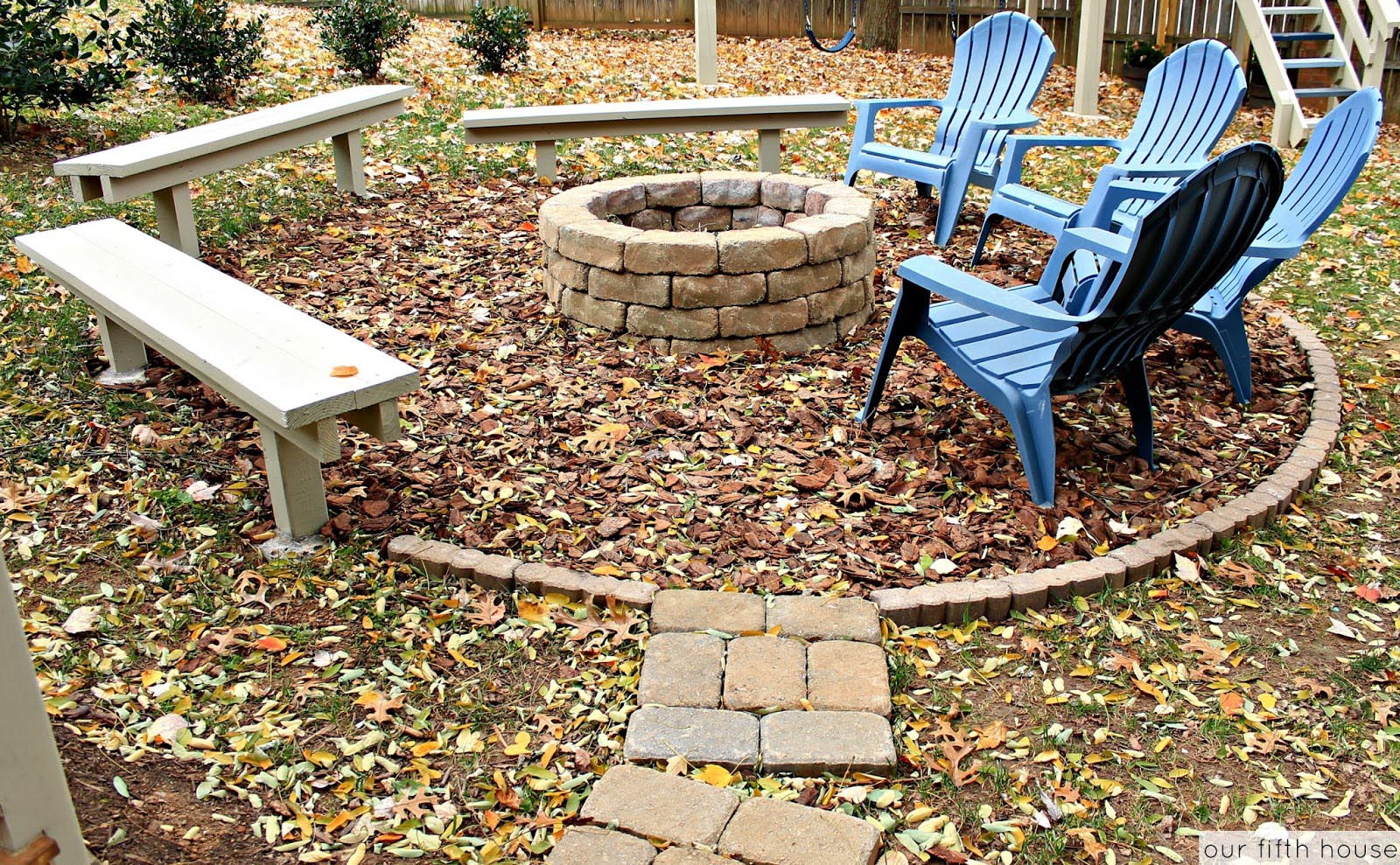 Wooden Swing Fire Pit